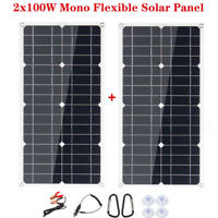 2X 100W 18V Flexible Solar panel solar Modul Monokristallin Wohnwagen Wohnmobil