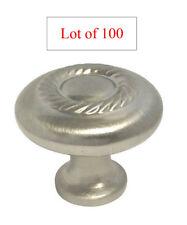 "100 Satin Nickel Kitchen & Bathroom Cabinet Rope Knob pull 1 1/4"" free shipping"