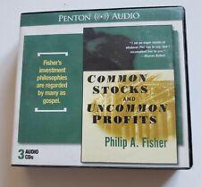 Penton Audio Common Stocks and Uncommon Profits CDs Philip A Fisher Audiobook