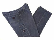 Dickies Carpenter Jeans Size 42 x 32 Black Faded Raw Denim Washed Utility VGUC