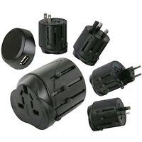 World Travel Universal Adapter Converter With USB Charger AU UK US EU Plug