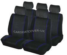 Mazda Xedos 9-De Lujo Negra Y Ribete Azul Protectores De Cubiertas de Asiento de Coche-Conjunto Completo