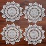 """4Pcs/Lot White Handmade Vintage Round Crochet Lace Doilies Cotton Placemats 12"""""""