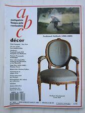ABC décor N°262 1987 /armes blanches/fauteuil Louis XVI/J.Puy/Bijoux '20/vitrine