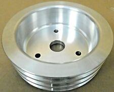 Transdapt 8878 BB Chevy Aluminum Short Crankshaft Pulley, 3 Grove, V-Belt
