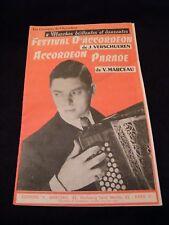 Partition Festival d'accordéon Verschueren Accordéon Parade V Marceau