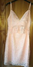 Guess Ladies Occasion Dress Size 2 USA Size 6 Peach Sleeveless New Tags Crochet