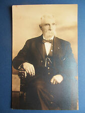 ID'd - DR. EDGAR COLE - RPPC Old Real Photo Post Card - Holmesville Ohio OH