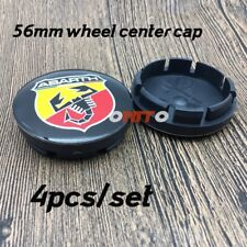 4x Fiat Abarth Alloy Wheel Centre Cap 56mm Set Of 4 Hub Caps 3D Logo Decal Badge