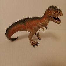"""Giganotosaurus Schleich 2014 Orange With Tag Hinged Jaw 6.5"""" Dinosaur Figure"""