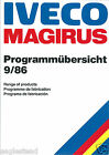 Fire Truck Brochure - Iveco Magrius - Product Line Overview - 1986 9/86 (DB185)