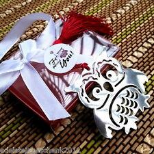GS:1 Silber Edelstahl Charm Hohl Eule Lesezeichen Bookmark Geschenkidee 20x6.5cm