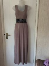 V London Vest Style Maxi Dress Beige Size S/M Approx 10