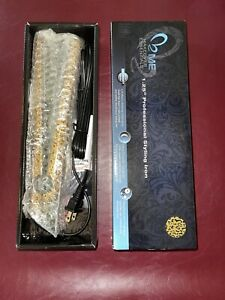 """ME Makeover Essentials 1.25"""" Professional Styling Iron Gold Leopard Print"""