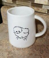New Rae Dunn Chirp Baby Chick Yellow Interior Coffee Mug