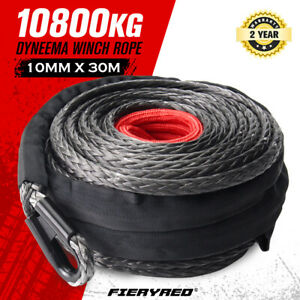 10MM x 30M Synthetic Winch Rope Dyneema SK75 Tow Recovery Cable Offroad 4WD