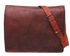 Men's Business Bag Genuine Leather Messenger Shoulder Briefcase Bag Brown