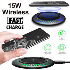 15W Qi Wireless Charger Fast Charging Station For Samsung S20 Ultra/Note10+/S10+