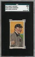 1909-11 T206 Hughie Jennings One Hand Sweet Caporal 350-460 HOF SGC 40 / 3 VG