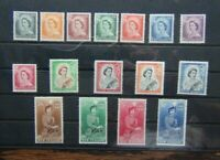 New Zealand 1953 - 59 set to 10s MM (2/6 to 10s values MNH SG723 - SG736