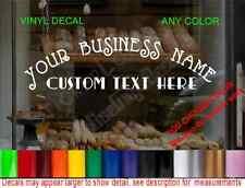 STORE NAME CUSTOM WINDOW DECAL BUSINESS SHOP Storefront VINYL DOOR SIGN COMPANY