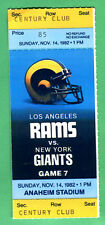 11/14/82 GIANTS/RAMS NFL FOOTBALL TICKET STUB
