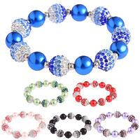 Ladies New Shamballa Bracelet Women Crystal Disco Ball Friendship Bead Bangles