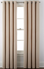 "*JCPenney Home Pembroke Grommet-Top Curtain Panel 50""W x 84""L Linen NEW"