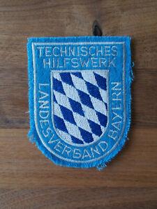 Ärmelabzeichen des LV Bayern / THW / Technisches Hilfswerk / KatS / Aufnäher