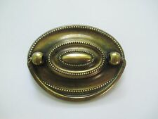 "Hepplewhite drawer pulls 2.25"" Centers Oval Handles 2 1/4"" on center brass knobs"
