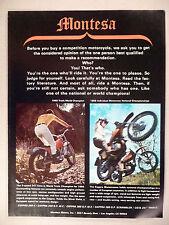 Montesa Motorcycle PRINT AD - 1970 ~ 247 Cota, Cappra Motocrosser,Montesa Motors