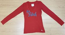 GENUINE mens red V-neck t shirt top SIZE S / SMALL