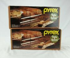 Lot of 2 Vintage Pyrex Bake- A-Round Unused In Open Box Nice