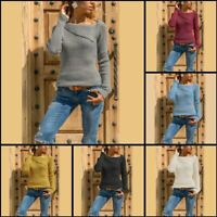 Tops Jumper Casual Knitwear Womens Sweater T-Shirt Knit Shirt Knitted Pullover