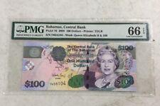 2009 Bahamas Central Bank Pick #76 $100 Bill One Hundred Dollars PMG 66 TDLR