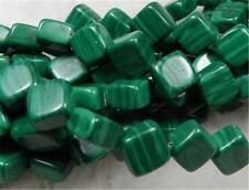 "8mm Green Malachite Rhombus Cushion Loose Beads 15""##CH465"
