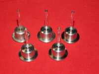 Lot of 4 used, 1 unused Agilent Sapphire Pistons; 5063-6586