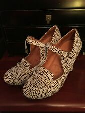 CHIE MIHARA ALIBABA MARY JANE HEELS WHITE WITH BLACK SPOTS SIZE 38