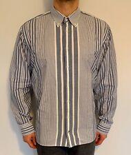 Tommy Hilfiger Shirt XXL Blue & White Striped Vintage Authentic Custom Fit