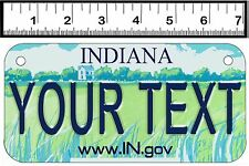 PERSONALIZED ALUMINUM MOTORCYCLE STATE LICENSE PLATE-INDIANA 2001