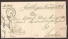 "AUSTRIA. 1862, ""ALT PAZUA"". ENTIRE. SERBIA MILITARY FRONTIER. ADDRESSED TO SEMLI"