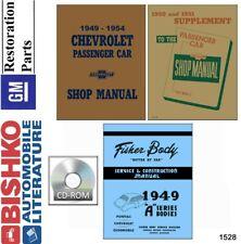 1949 1950 1951 1952 1953 1954 Chevrolet Shop Manual CD Engine Drivetrain Wiring