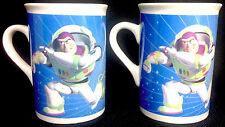 Toy Story Mugs Disney Pixar BUZZ LIGHTYEAR HEROS OF THE UNIVERSE 2010 | Set of 2