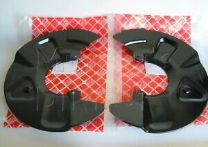 PAIR Front Brake Stone Guards Back Plates  VW T5 T6 Transporter Caravelle 308mm