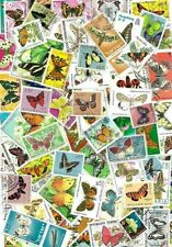 BUTTERFLYS STAMPS. A GOOD SELECTION OF 80 BUTTERFLYS POSTAGE STAMPS..