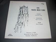 1970 PACIFIC MUSIC CLINIC LP University of the Pacific Stockton CA Century Recor