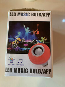 BRAND NEW LED Music Light Bulb, E27 Bluetooth Speaker RGB Colour Changing Light