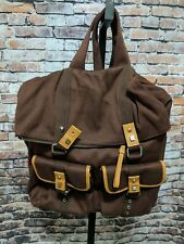 Bodhi Handbags Brown Canvas Backpack Carry-on Bag NEW