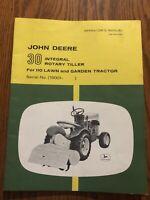 John Deere 110 30 tiller OMM41220 Operators Manual Book Hard To Find