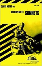 Shakespeare's Sonnets (Cliffs Notes) [Oct 21, 1965] Lowers, James K. *NEW*